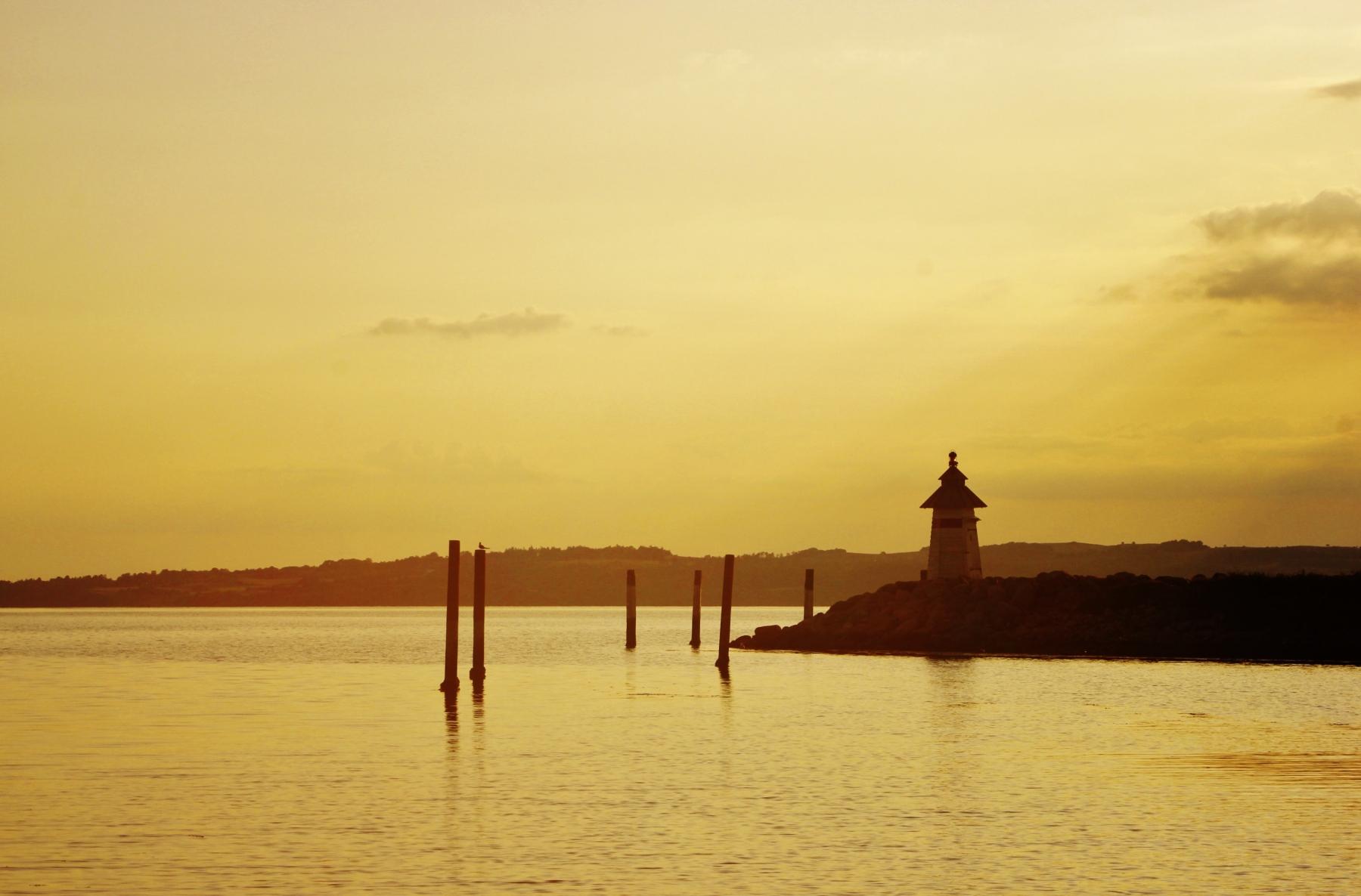 Sunset at Ebeltoft Bay 1